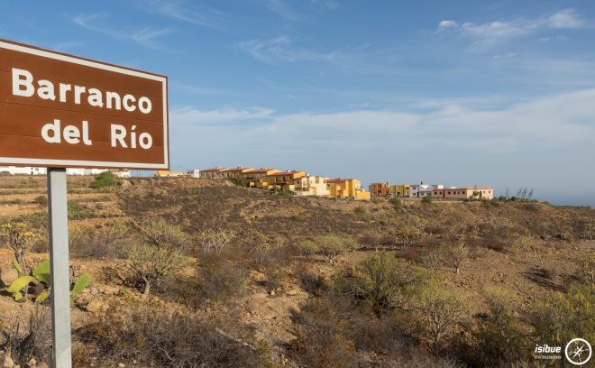 Signpost for the Barranco del Rio